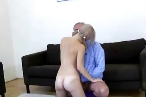 old chap younger fuck tugjob and cumshot