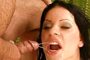 old man fucking and pissing on nasty beauty