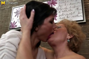 four horny old and juvenile lesbos wild fuck