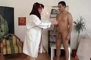 beautiful lady likes painting and his weenie