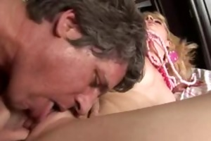 mature guy unloads his cum on sexy youthful