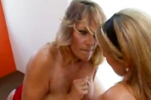 milf blonde with younger girl