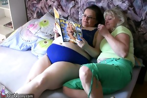 bbw corpulent woman with old granny