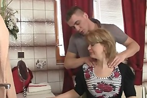 she is rides son in law cock and his wife comes in