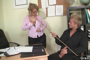 office sex with enchanting old women