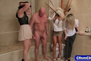naughty clothed fetish dominas