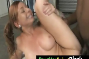 watch my petite daughter when is ride a dark cock