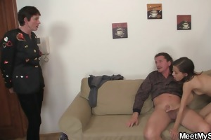 she is seduces his father to sex and his mom