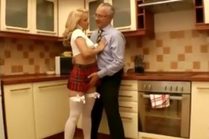 amateur british teen in nylons gives old man