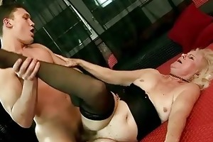 unsightly old bitch gets drilled marvelous hard