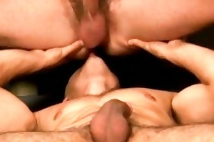youthful gay couple in eager hardcore act
