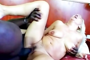 mature slut madge enjoys a dark jock