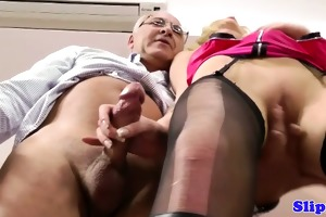 classy blonde drilled by old dude