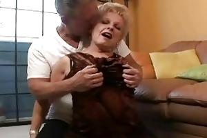 priceless lustful granny gets old penis in her