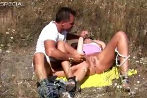excited milf receives drilled hard outdoor part3