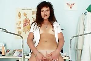 hawt milf in nurse uniform bizarre self exam