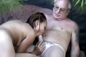 uncle jesse gets his cock sucked by oriental wench