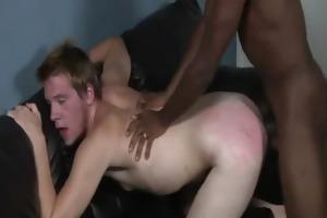 sexy darksome homo guys fuck white youthful studs