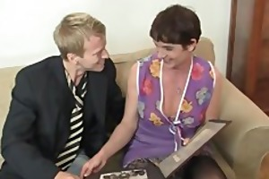 old doxy jumps on his large meat