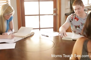 mommys teach sex - stepmom turns study time into