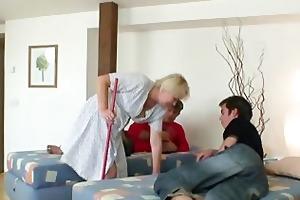 blonde granny takes jocks
