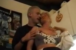 german step-mother fucked by son and friend