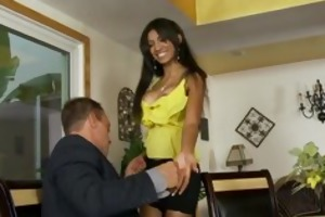 slutty latin chick wants her step-fathers cock