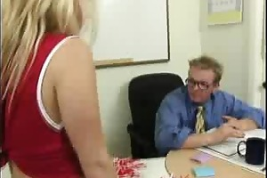 sweet blonde beauty does alot of cock sucking