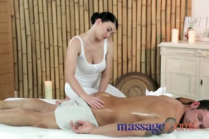 massage rooms young cutie with biggest marangos