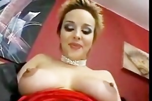 youthful girl takes huge cock in her mouth and