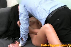 fakeagent young fertile girl has fur pie eaten