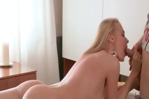 hawt girl enjoys massage and sex 9