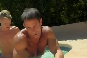 gay cock daddy poolside prick loving