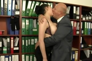 secretary drilled by her much older boss