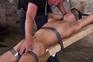 old fetish man punishing a bigcock serf boy