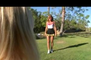 lustful blonde legal age teenager cheerleader