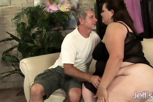 fat girl angelina\s titanic body and muff get a