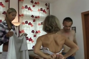 she is lured into oral three-some by his parents