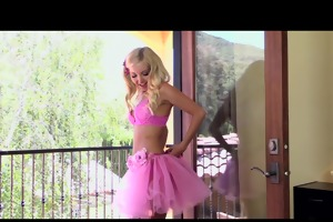 naughty youthful breasty golden-haired babe