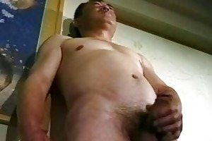 dirty oriental old boy jerking off untill cumming