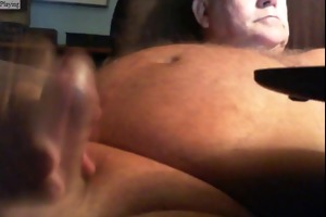 dad pleasure on cam