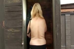 blonde granny rides my penis hard