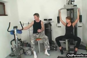 trainer gives workout and fuck