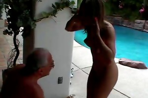 angel acquires mouth fucked by old chap