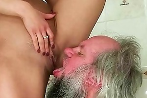 cutie punishing and fucking a grandpa