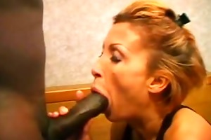 blond yells during dark rod hammering