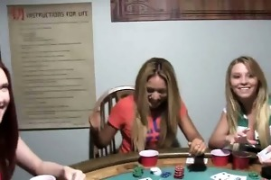 youthful girls team fuck on poker night