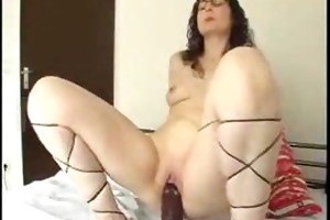 d like to fuck riding a massive darksome dildo
