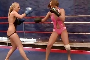 sexy youthful beauties fighting