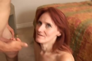 debra is a skinny aged redhead who t live without